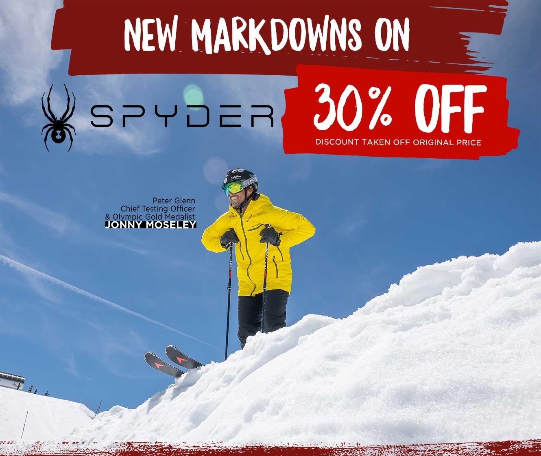 New Markdowns on Spyder: Save 20%