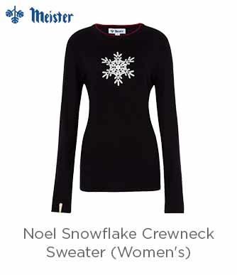 Meister Noel Snowflake Crewneck Sweater