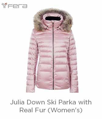 Fera Julia Down Ski Parka with Real Fur